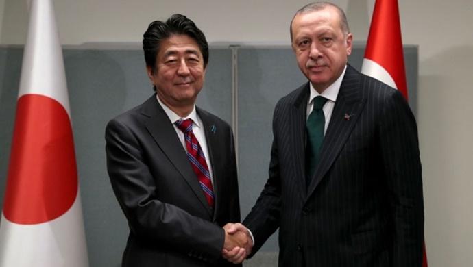 Erdoğan, Japonya Başbakanı Abe ile telefonda görüştü