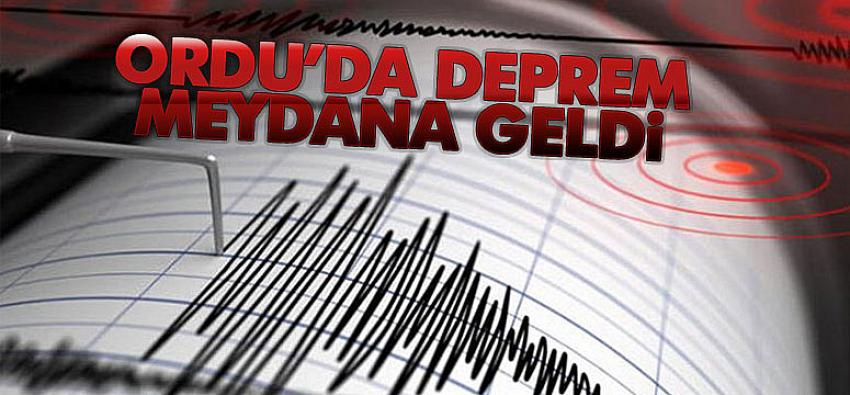 Ordu'da korkutan deprem! Samsun ve Giresun'da da hissedildi!