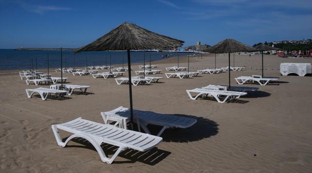 İstanbul'da  plajlar Açılışa hazır