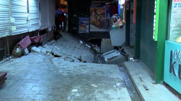 Beşiktaş'ta Sokakta bulunan bir kadın göçük altında kaldı