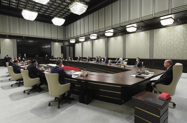 Erdoğan, başkanlığında gerçekleştirilen Kabine toplantısı sona erdi