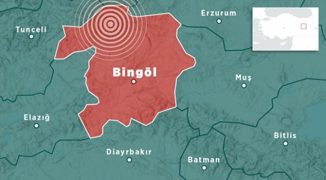 Bingöl'ün Kigi ilçesinde 4 büyüklüğünde deprem