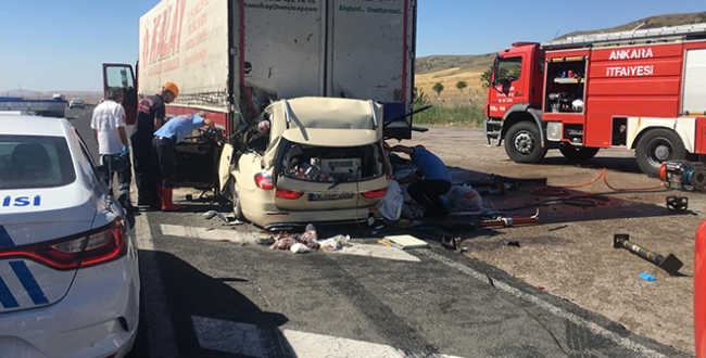 Ankara-Konya yolunda feci kaza: 5 ölü