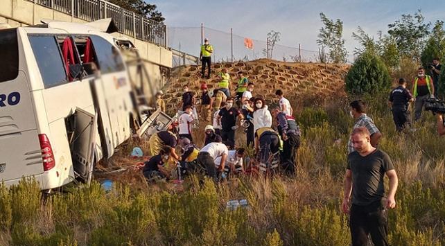 Kuzey Marmara Otoyolu'nda otobüs kazası: 5 kişi öldü, çok sayıda yaralı var