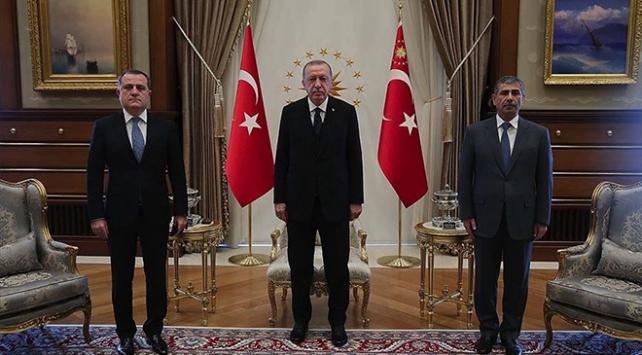 Cumhurbaşkanı Erdoğan, Azerbaycan Dışişleri Bakanı Bayramov'u kabul etti