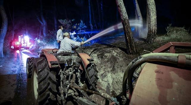 örtü yangınında yaklaşık 3 dönümlük alan zarar gördü