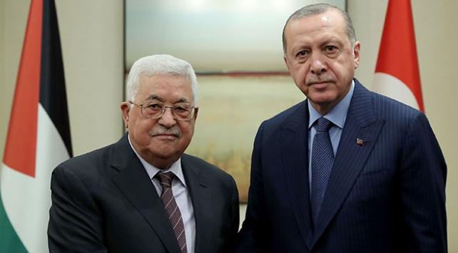 Cumhurbaşkanı Erdoğan Filistin Devlet Başkanı Abbas ile görüştü