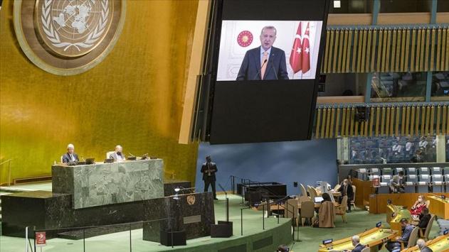 Erdoğan'ın sözleri BM'de İsrail Büyükelçisi'ne salonu terk ettirdi
