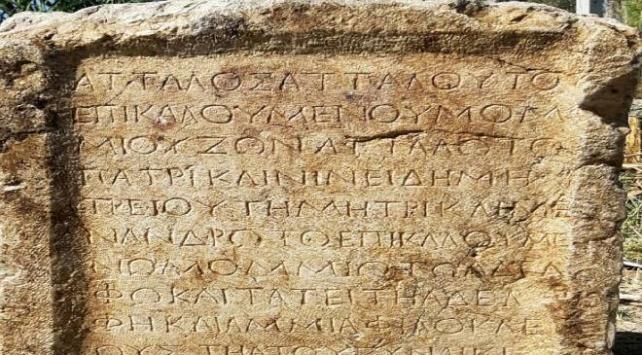 Isparta'da bin 800 yıllık kitabe ele geçirildi