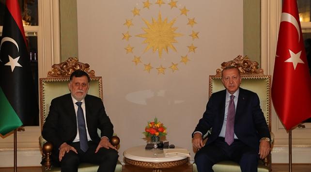 Erdoğan, Libya Başbakanı Serrac ile görüştü