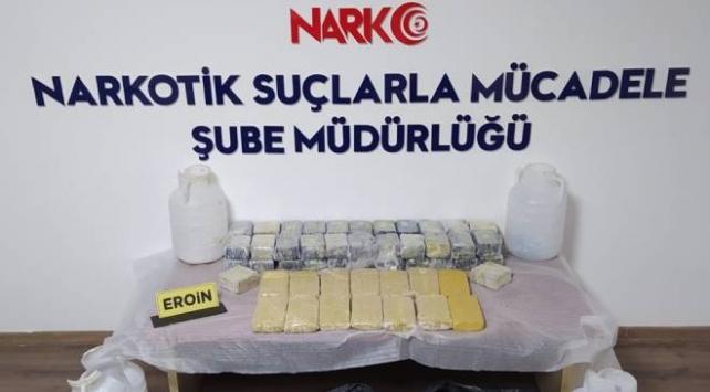 Malatya'da 31 kilo 268 gram eroin ele geçirildi