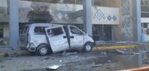 Yemen'de havalimanında korkutan patlama!