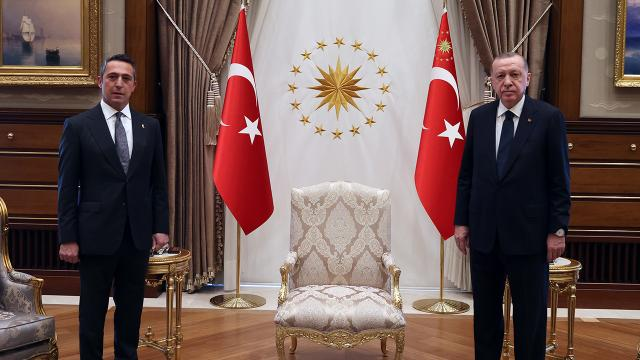 Cumhurbaşkanı Erdoğan, Ali Koç'u kabul etti!