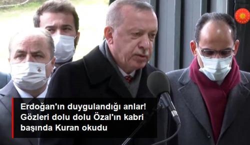 Turgut Özal'ın kabri başında Kur'an-ı Kerim okudu