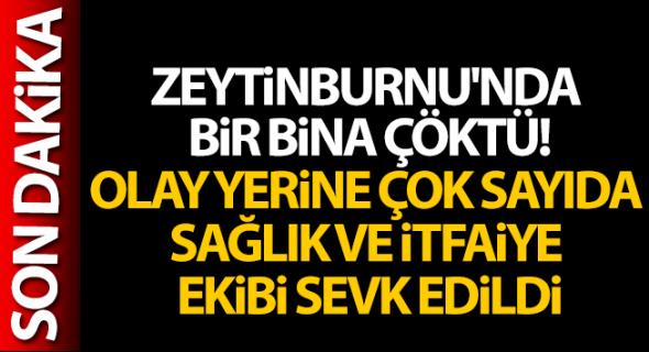Zeytinburnu'nda bir bina çöktü!