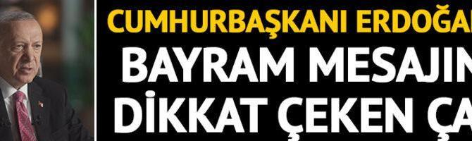 Erdoğan'dan bayram mesajında 'aşı' çağrısı