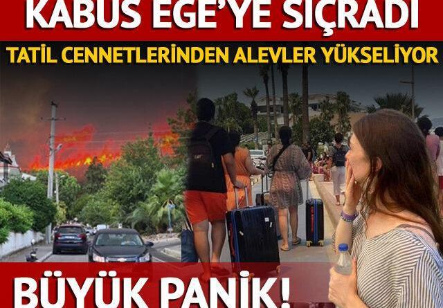 Marmaris, Bodrum ve Milas'da alevler yükseliyor