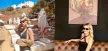 Güzel oyuncu Alara Zeynep Teke Bodrum tatilinde
